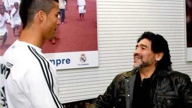 Photo of تعليق ساخر من «مارادونا» على قول «رونالدو» أنه أفضل لاعب في التاريخ