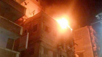 Photo of اسطوانة غاز تصيب شخصين وتدمر شرفة شقة بالهرم