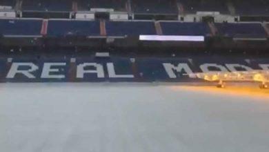 Photo of شاهد..الثلوج تمنع تدريبات ريال مدريد في سانتياجو برنابيو