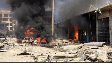 """Photo of شاهد""""فيديو""""مقتل واصابة اشخاص جراء انفجار سيارة مفخخة في سوق بعفرين السورية"""