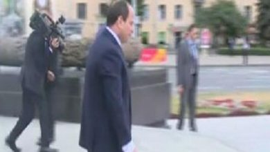 Photo of الرئيس السيسى يصل إلى ساحة النصب التذكارى بالعاصمة البيلاروسية مينسك
