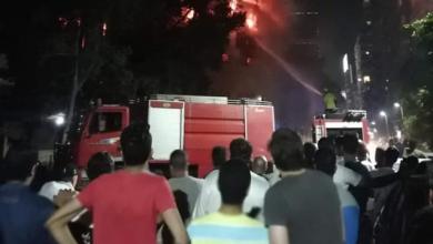 Photo of 20 سيارة إطفاء تحاول السيطرة على حريق في كنيسة الأنبا بولا بحدائق القبة