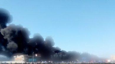 Photo of السيطرة على حريق برج محمول في مركز شباب صقر قريش