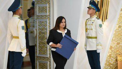 Photo of سفيرة مصر الجديدة لدى كازاخستان تتقدم بأوراق اعتمادها