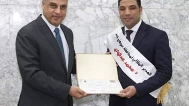"Photo of المستشار راغب مصطفي يهنئ الدكتور""محمد عبدالهادي """
