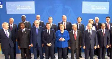 Photo of الرئيس السيسى وقادة الدول المشاركة فى مؤتمر برلين يلتقطون صورة جماعية