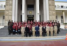 "Photo of وفد من طلاب جامعة عين شمس في زيارة ميدانية  ""للكلية الحربية """