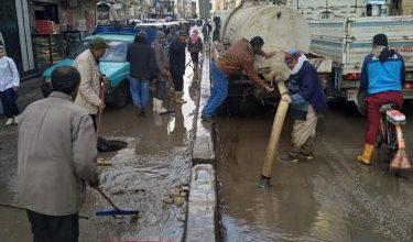 Photo of مجلس مدينة بسيون ينجح فى رفع كافة مياه الأمطار من الشوارع والقري