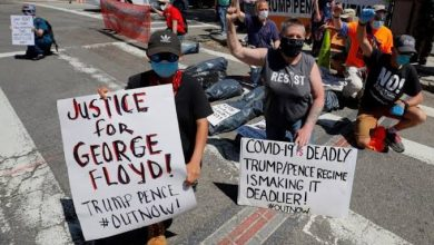 """Photo of اشتعال احتجاجات """"لا أستطيع التنفس"""" وفرض حظر التجول في مدن أمريكية"""