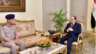 Photo of الرئيس السيسى يستقبل وزير الدفاع والإنتاج الحربى