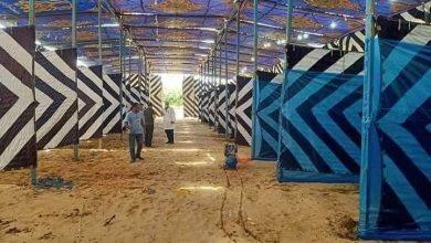 Photo of بالجهود الذاتية :تجهيز أول مستشفى للعزل داخل ملعب كرة قدم بالرحمانية  (صور)