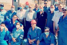 Photo of بالصور.. رئيس انابيب البترول يتفقد قطاع الحمرا بميناء العلمين و يطمئن على أحوال العاملين بالموقع
