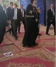 Photo of البابا تواضروس يدلي بصوته بمدرسة الخديوي بالوايلي
