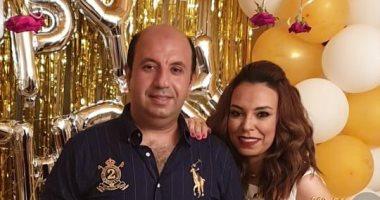 Photo of مروة ناجى تحتفل بعيد ميلاد زوجها
