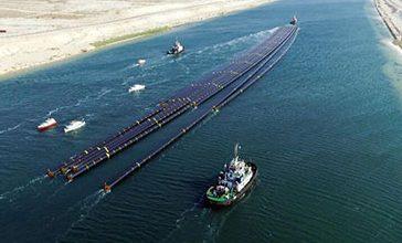 Photo of نجاح أول عملية عبور لـ12 ماسورة عملاقة عبر قناة السويس الجديدة