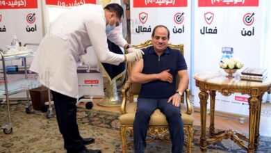 Photo of الرئيس السيسي يتلقى التطعيم باللقاح المضاد لفيروس كورونا