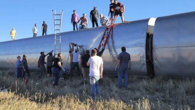 Photo of مصرع 3 وإصابة 50 جراء خروج قطار عن القضبان بولاية مونتانا الأمريكية